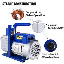 VEVOR 4.8CFM 1/3HP Rotary Vacuum Pump Rain Fire R410A R134A R22