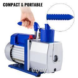 VEVOR 7 CFM Vacuum Pump 1/2 HP Single Stage Rotary Vane 250ml Electric Air Tool