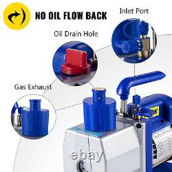 VEVOR 7CFM Single Stage Vacuum Pump 1/2HP Rotary Vane 198L/Min 250ml HVAC