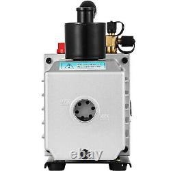 VEVOR 8CFM Double Stage Rotary Vane Vacuum Pump HVAC/Auto Air Conditioning
