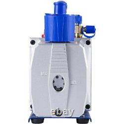 VEVOR 9 CFM 2 Stages Vacuum Pump 1HP Air Conditioning Refrigeration R22 R410a