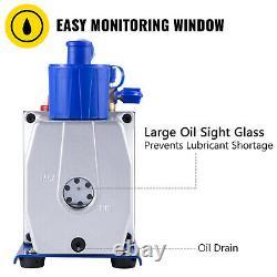 VEVOR Single Stage Vacuum Pump 7CFM 1/2HP Rotary Vane Refrigerant Aluminum Alloy