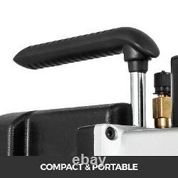 Vacuum Pump 5CFM 2-Stage 1/2 Hp Rotary Recharging 1/2HP HVAC/Auto AC 1/4flare