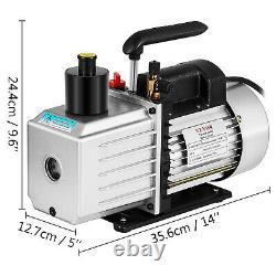 Vacuum Pump 8CFM 1HP Two Stage HVAC Rotary Vane Vacuum Pump Auto AC Refrigerant