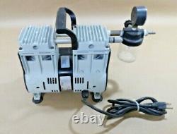 WELCH 2561B-50 Laboratory Oil Free 1/3 Hp Dry Vacuum Pump 115 V, 7.1 CFM
