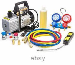 XtremepowerUS Premium 4CFM Air Vacuum Pump HVAC A/C Refrigeration Kit AC Gauge