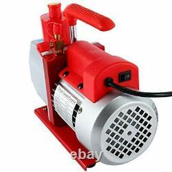 YaeTek 5CFM 2-Stage Rotary Vane Vacuum Pump (5.0CFM, 0.3Pa, 1/2HP)