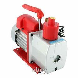 YaeTek Rotary Vane Vacuum Pump Advanced 5 CFM 2 Stage 1/2HP HVAC with Gauge CA