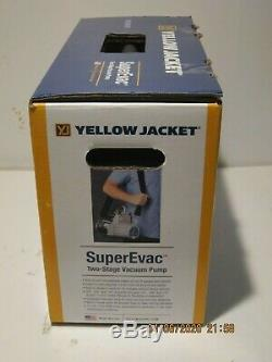 Yellow Jacket 93560 SuperEvac 6 CFM Vacuum Pump F/SHIP NEW IN SEALED BOX 12/2019