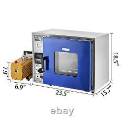 0.9cu Ft Four De Séchage 9 Cfm 2-stage Vacuum Pump 133pa Digital 600w Power 5 Tray