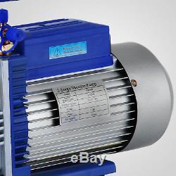 12cfm 2 Étapes 1hp Pompe À Vide Réfrigérant Climatisation 110v / 50hz Réfrigération