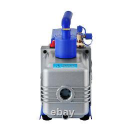 12cfm 2 Étapes 1hp Pompe À Vide Réfrigérante Deep Hvac Dual Stage Ac Conditioning