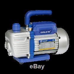 2.5cfm 2 Étages Vide Réfrigérant Pompe De Réfrigération Jauges Outils Air Conditionné