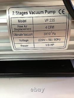 2 Étape 4.5cfm Réfrigération Pompe À Vide 3gauge Valve Sélénoid 2ds245s