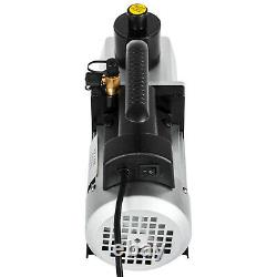 2 Étape 5 Cfm Rotary Vane Pompe À Vide 1/2hp Hvac Ac Réfrigérant Climatisation