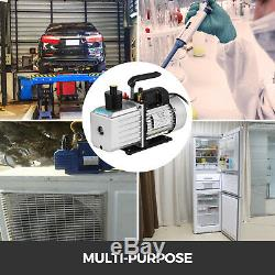 2-stage 8 Cfm Réfrigérant Pompe À Vide Rotative À Palettes 1hp 1 / 2acme Ac R134a 500 ML