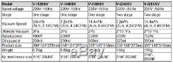 2pa Air Pompe À Vide À Palettes Rotatives 1 L / 2.1cfm De 1 Etape 1 / 4hp Pour R410a Réfrigérateur