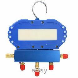 3.5cfm / 4cfm / 5cfm 1 / 4hp Air Pompe À Vide CVC Kit Ac A / C Manomètre Ca Stock