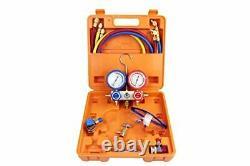 3.6cfm Vacuum Pump & Manifold Gauge Set Hvac A/c Kit De Réfrigération