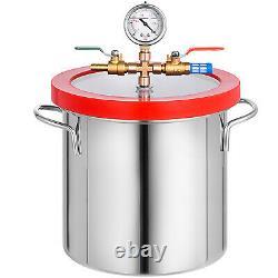 3 Cfm 1 Etape Pompe À Vide 54l / Min 2 Gallons Aspirateur Chambre De Dégazage Silicone