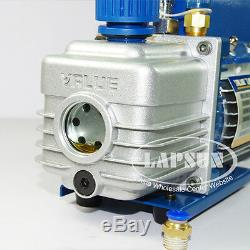 3 Cfm 150w 1l Rotary Mini Vane Pompe À Vide CVC Ac Réfrigérant Climatisation