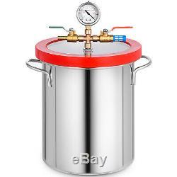 3 Gallon Chambre Vide Et 3 Cfm 1 Pompe À L'étape Dégazage En Acier Inoxydable
