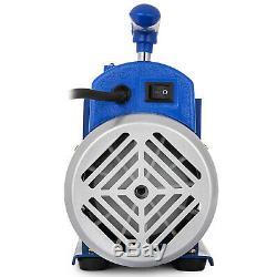 3 Gallon Vide Chambre Dégazage Kit Silicone + 4cfm Étape Simple Pompe CVC Ac