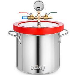 3 Gallons Aspirateur Chambre 4 Cfm Profonde Vane Pump Purge 5 Pa Pro En Acier Inoxydable