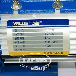 3cfm 1l 150w 2pa Rotary Mini Vane Pompe À Vide CVC Ac Réfrigérant Air Conditionné
