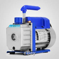 3cfm Air Pompe À Vide Manifold Gauge Hvac A / C Refrigeration Ac Kit