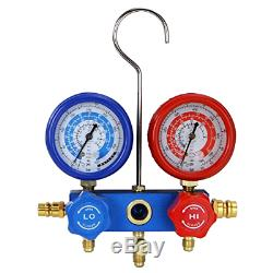 3cfm Ou 4cfm Air Pompe À Vide CVC A / C Réfrigération Kit Set Manomètre Ac