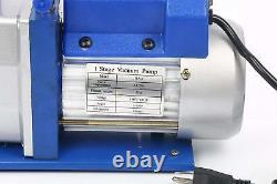 4.8cfm 1/3hp Pompe À Vide Hvac Réfrigération Manifold Gauge Carry Tote R410/r134a