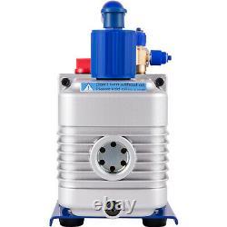 4.8cfm Pompe À Vide 4valve Gauge Manifold R410a R134a R22 Hvac Kit Frigorifique Ac
