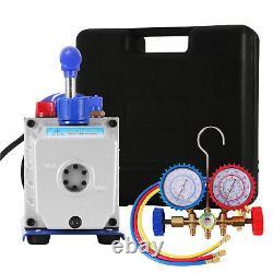4 Cfm 1/4hp Vane Vacuum Pump Rotary Ac Air Tool R134a Hvac Charge Tool