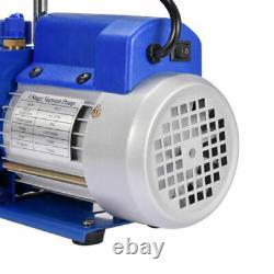 4 Cfm 1 Stage Rotary Vane Vacuum Pump Hvac 1/4hp Ac Climatisation R134a R410a