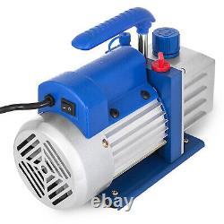 4 Cfm 2 Stage Vacuum Pump 3 Gallon Vacuum Chamber Dégazage Silicone Kit Rs-1.5
