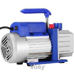 4 Cfm Air Vacuum Pump R134a Deep Rotary Vane Cvac A/c Réfrigérant