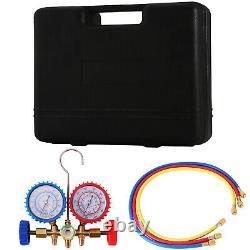 4 Cfm Pompe À Vide Rotary Vane Deep Hvac + Kit R134a Ac A/c Collecteur Gauge 1/4hp