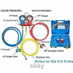4cfm 1/3hp Pompe À Vide D'air CVC A/c Kit D'outils De Réfrigération Ac, Jauge De Réparation Automatique