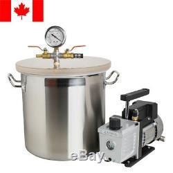 5 Gallon Chambre Vide Et 3 Cfm Étape Simple Pompe À Dégazage Silicone Canada