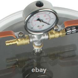 5 Gallons Chambre À Vide Silicone Expoxy Dégazage Avec 3cfm 1/3hp Pompe À Vide Vente