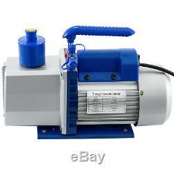 5 Vide Vide Chambre 7cfm Gallon Pompe À 2 Étages Climatisation Rotary 3 / 4hp