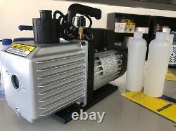 7 Cfm 2 Étapes Réfrigérant Pompe À Vide Jauges Réfrigération Indicateurs Air Condition D'air