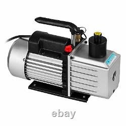 8 Cfm Deux Étapes Rotative Vane Vacuum Pump Recharger Réservoir D'huile R134a R410a