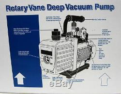 90066-2v-110 6 Cfm Pompe À Vide À Deux Étages De 1/3 HP 15 Microns 3440 RPM Mastercool