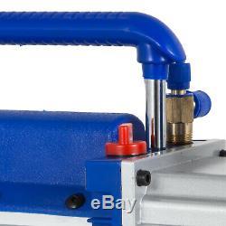 9cfm 2 Étapes Pompe À Vide 1hp Climatisation 3x10-1pa 25 Microns Capacité D'huile