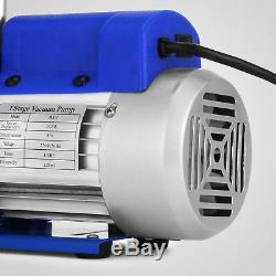 A / C Manomètre Tuyau Climatiseur R134a R502 + 3cfm À Palettes Pompe À Vide