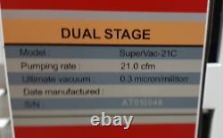 Ai Supervac 21cfm 0.3micron Chimique-resist Pompe À Vide 115v Réformé