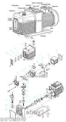 Ai Supervac 5.6 Cfm Corrosion Résistez Commercial Grade 2-stage Pompe À Vide Four