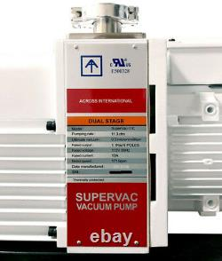 Ai Ul / Csa Certifié Supervac 11cfm 0.3micron Chimique-resist Pompe À Vide 115v